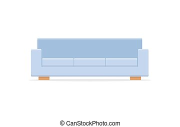 Sofa icon with shadow flat style