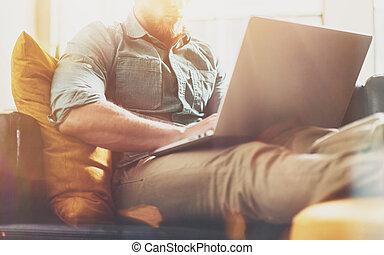sofa, idea.horizontal, moderne, zolder, werkende , modieus,...