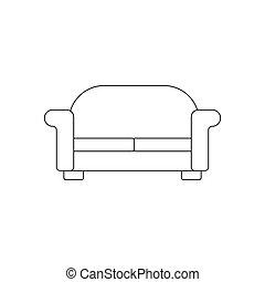 sofa, illustration, sentier