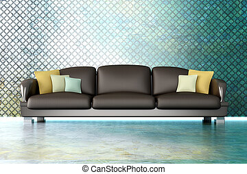 Sofa in a Metal room