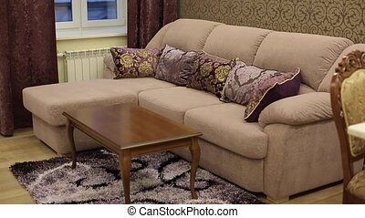 Sofa in apartment