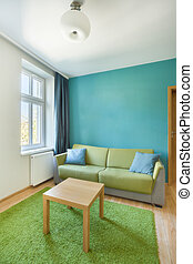 Sofa in bright apartment