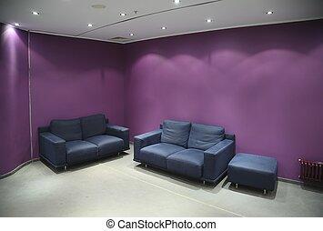 sofa, in, de, kamer