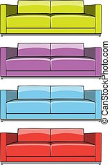 sofa in some color variations