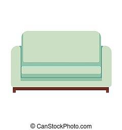 Sofa isolated on white background. Vector illustration. EPS 10.