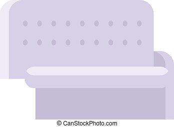 Sofa isolated vector illustration.