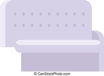 Sofa isolated vector illustration. - Gray couch sofa...