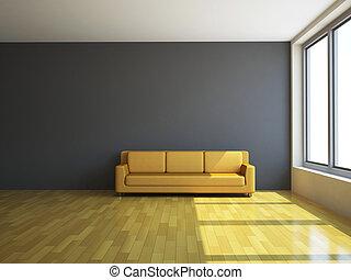 sofa, lamp