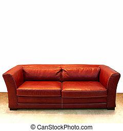 sofa, leder