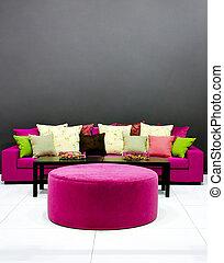 sofa, lila