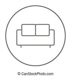Sofa line icon. - Sofa line icon for web, mobile and...