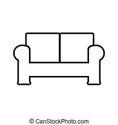 Sofa line icon