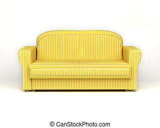 sofa on white background