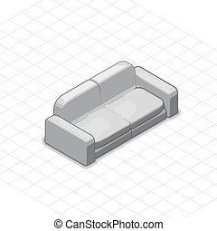 Sofa or couch vector illustration