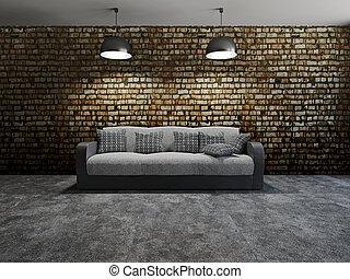 sofa, oreillers