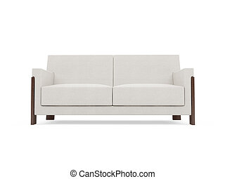 Sofa over white background - isolated modern sofa over white...
