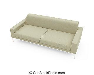 Sofa over white background