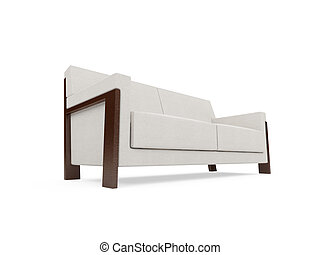 Sofa over white background