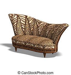 sofa, pépère, conception, africaine