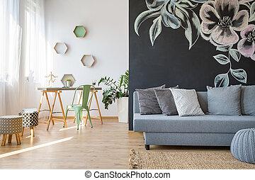 sofa, ruim, kamer