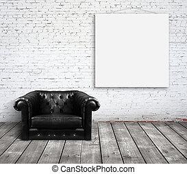 sofa, salle