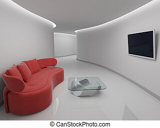Sofa, salle, repos