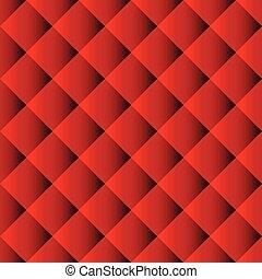 sofa, seamless, rouges, modèle