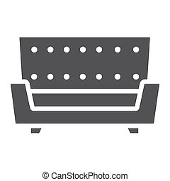 Sofa solid icon, Furniture and interior element, couch...