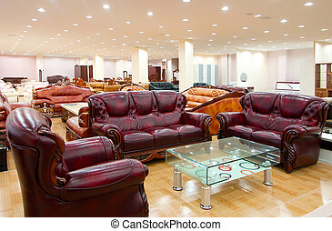 Sofa store - A furniture store, there are sofas, beds, ...