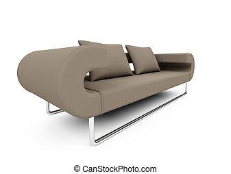 sofa, sur, blanc