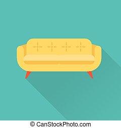 sofa, vecteur, icône