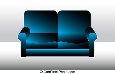 sofa, vecteur, illustration