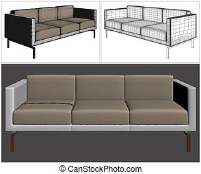 Sofa Vector 22.eps