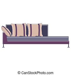 Sofa vector icon couch furniture illustration design isolated interior home modern