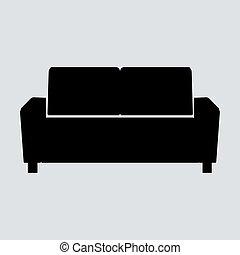 Sofa vector illustration isolated on white background. Soft...