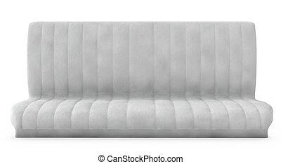 sofa, weißer hintergrund, 3d