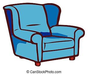 sofa, weißer hintergrund, ikone
