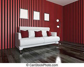 sofa, weißes