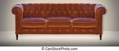 sofa, weinlese