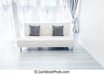 sofa, wite kamer
