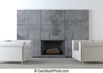 sofas, et, cheminée