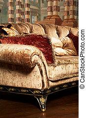 soffa, fashionabel
