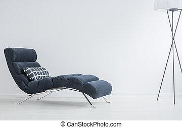 soffa, med, kudde