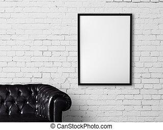 soffa, och, affisch