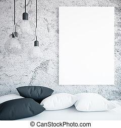 soffa, och, baner