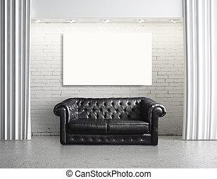 soffa, och, papp