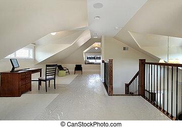 soffitta, in, nuovo, costruzione, casa