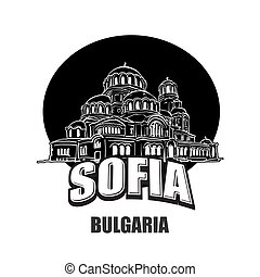 Sofia, Bulgaria, black and white logo