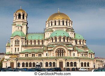 sofia, bulgaria., cuadrado, nevsky, catedral, alexander