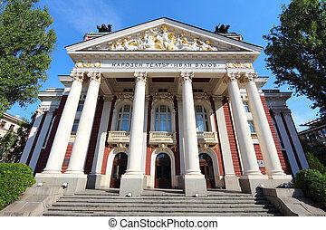 Sofia, Bulgaria - famous Ivan Vazov National Theatre ...